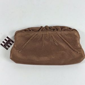 Lauren Merkin Rose Gold Clutch Bag